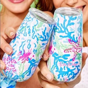 Lilly Champagne Flutes Tumblers Coral Bay
